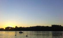 Zalazak sunca na Srebrnom jezeru