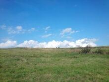 Predah u travi i oblacima