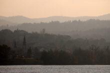 Zalazak sunca na Dunavu kod Sremske Kamenice