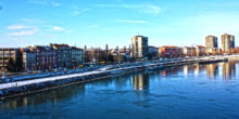 Novi Sad from bridge, winter